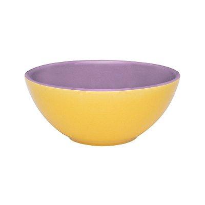 Tigela em Porcelana Biocolors 600ml -  Amarelo e Roxo - Oxford