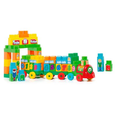 Molto Blocks Trem Didático - 70 Peças - Cardoso