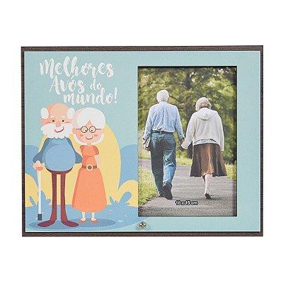 Porta Retrato em MDF 10x15 - Melhores Avós do Mundo! - Vikos