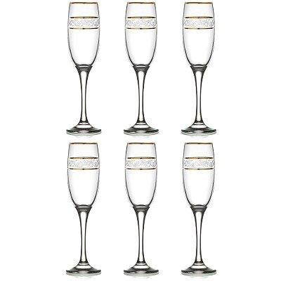 Jogo de Taças Para Champagne 190ml - 6 Peças - Lav