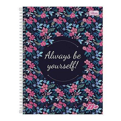 Caderno D+ - Flores - 10 Matérias - Tilibra