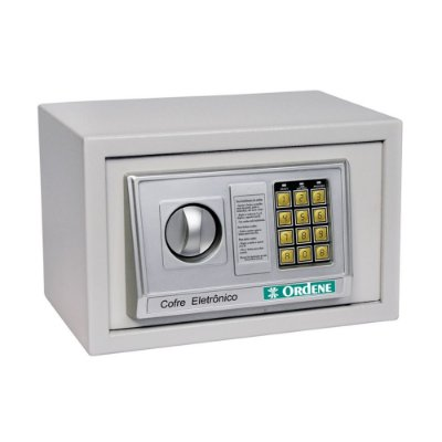 Cofre Eletrônico Digital - Cinza Claro - Ordene