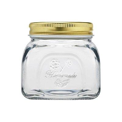 Pote de Vidro Com Tampa de Metal Homemade - 300ml - Full Fit