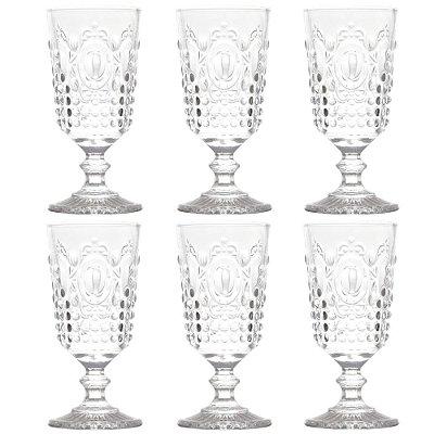 Jogo de Taças Para Vinho 205ml - Transparente - Lyor