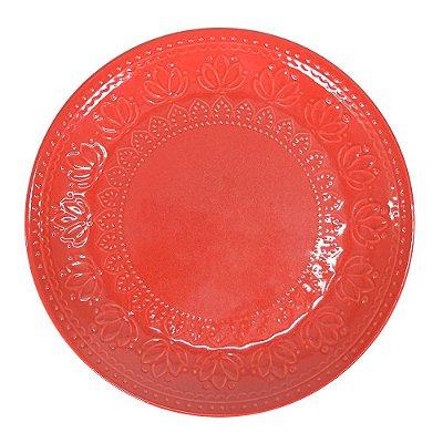 Prato de Sobremesa Relieve - Vermelha - Lyor