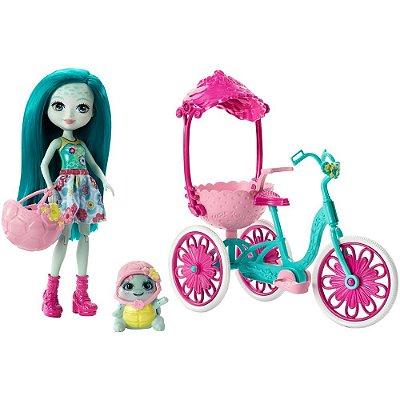 Enchantimals - Bicicleta Para Dois - Taylee Turtle e Bounder - Mattel