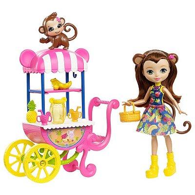 Enchantimals - Carrinho de Frutas - Merit Monkey e Compass - Mattel
