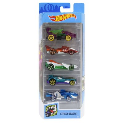Kit Hot Wheels 5 Unidades - Street Beasts - Mattel