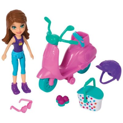 Polly Pocket - Scooter Piquenique Divertido - Mattel