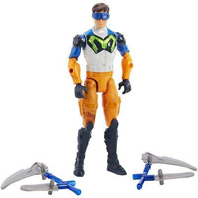 Boneco Max Steel - Ataque Lança Dupla - Mattel