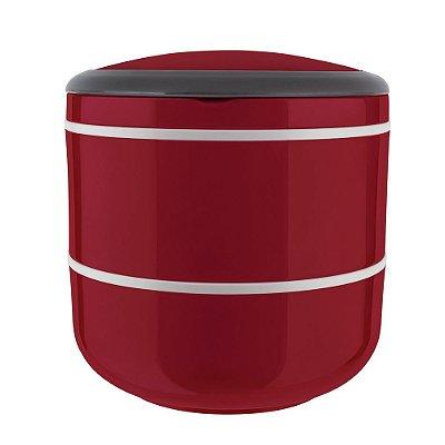 Marmita Lunch Box Dupla Microondas - Vermelha - Euro Design