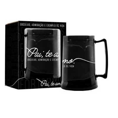 Caneca Gel 300ml - Pai Black - Brasfoot