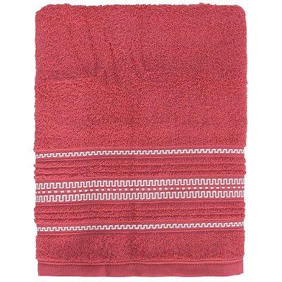 Toalha de Banho Royal Poly - Vermelha - Santista