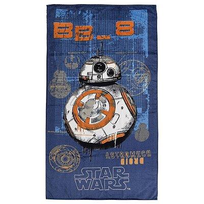 Toalha de Banho Aveludada - BB-8 Star Wars - Döhler