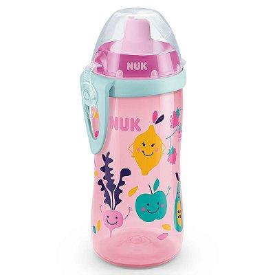 Copo Infantil Flexi Cup com Canudo - Frutas e Legumes - NUK