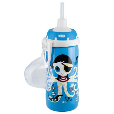 Copo Infantil Flexi Cup com Canudo - Fundo do Mar - NUK
