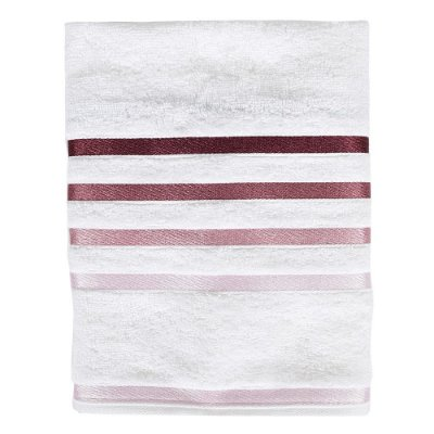 Toalha de Rosto Lumina - Branca e Rosa - Karsten