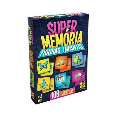 Jogo Super Memória Figuras Infantis - 108 Cartelas - Grow