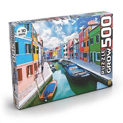 Puzzle Canal de Burano - 500 Peças - Grow