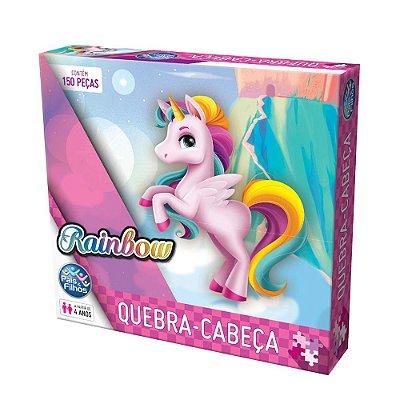 Quebra-Cabeça Rainbow - 150 Peças - Pais e Filhos