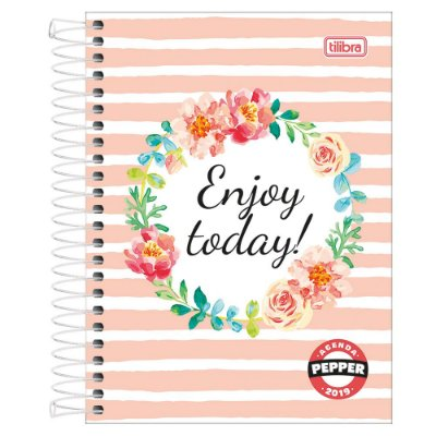 Agenda Diária Pepper Feminina 2019 - Enjoy Today - Tilibra