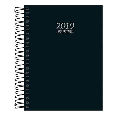Agenda Diária Pepper Espiral 2019 - Preta - 2019
