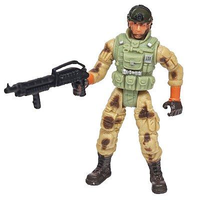 Boneco Comando Militar - Capacete - Buba
