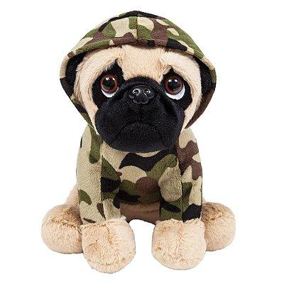 Pelúcia Pug Militar - Buba