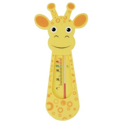 Termômetro Girafinha Para Banho - Laranja - Buba
