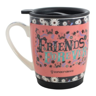 Caneca Com Tampa 350ml - Friends Forever - Zona Criativa