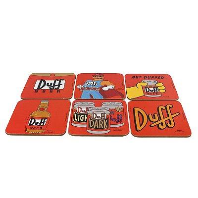 Kit Porta Copos 6 Peças - The Simpsons - Duff - Zona Criativa