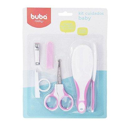 Kit Cuidados Baby Rosa - 6 Peças - Buba