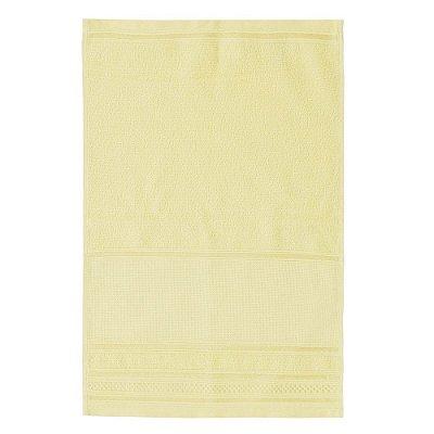 Toalha de Lavabo Pinte e Borde - Amarelo Claro - Santista