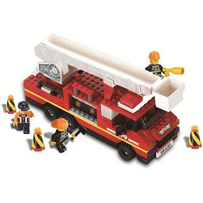 Blocos Para Montar - Combate a Incêndio - 240 Peças - Xalingo