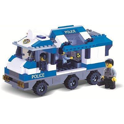 Blocos Para Montar - Caminhão da Polícia - 268 Peças - Xalingo