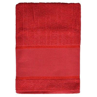 Toalha de Banho Para Bordar Firenze III - Vermelha - Döhler