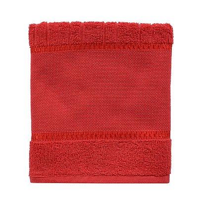 Toalha de Rosto Para Bordar Firenze III - Vermelha - Döhler