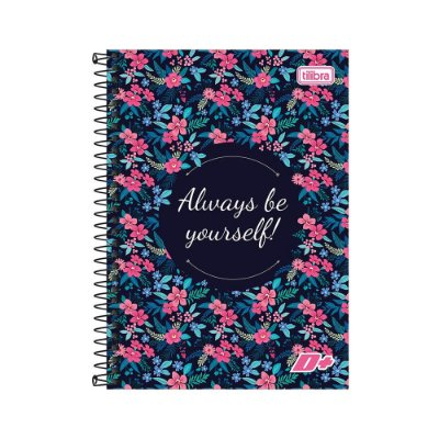 Caderno 1/4 Espiral D+ - Always Be Yourself! - 200 Folhas - Tilibra
