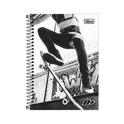 Caderno 1/4 Espiral D+ - Skate - 200 Folhas - Tilibra