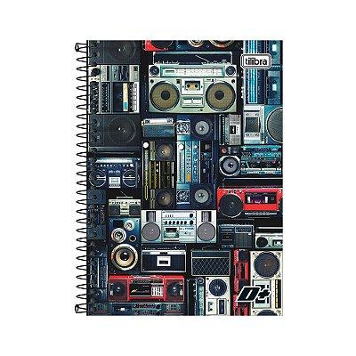Caderno 1/4 Espiral D+ - Rádios - 200 Folhas - Tilibra