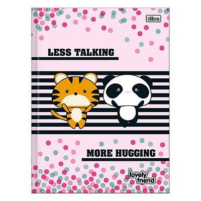 Caderno Brochura Lovely Friend - Tigre e Panda - 96 Folhas - Tilibra