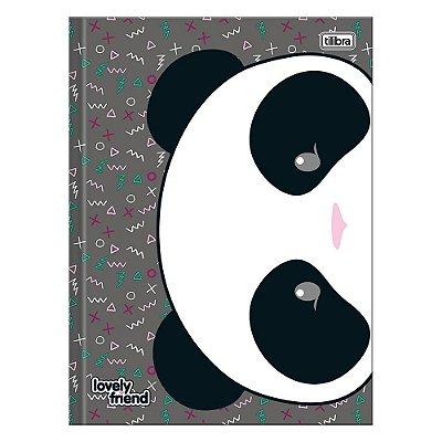 Caderno Brochura Lovely Friend - Panda - 96 Folhas - Tilibra