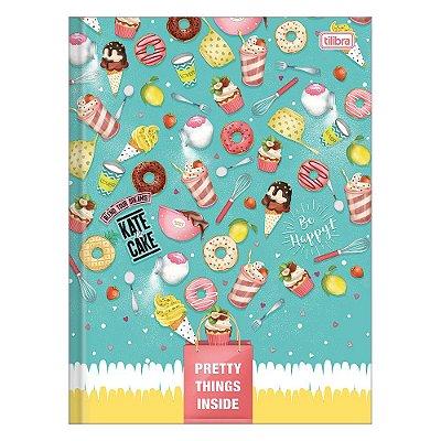 Caderno Brochura Kate & Cake - Doces - 80 Folhas - Tilibra