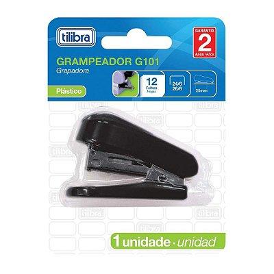 Mini Grampeador G101 - Preto - Tilibra
