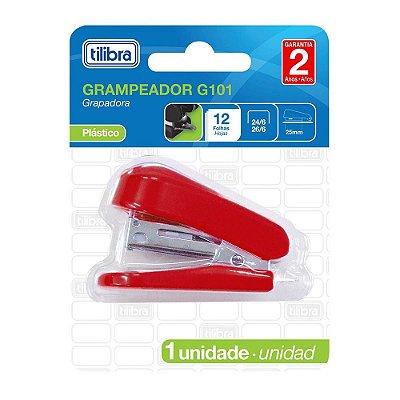 Mini Grampeador G101 - Vermelho - Tilibra