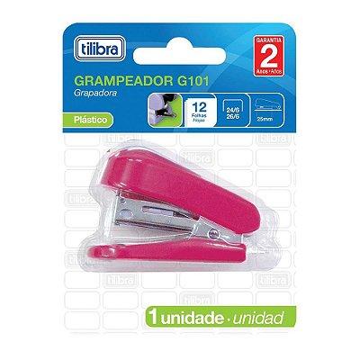 Mini Grampeador G101 - Rosa - Tilibra