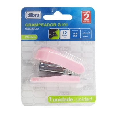 Mini Grampeador G101 - Rosa Claro - Tilibra