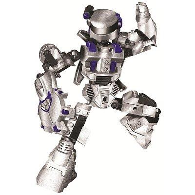 Blocos Para Montar - Robô Guerreiro White Armor - 55 Peças - Xalingo