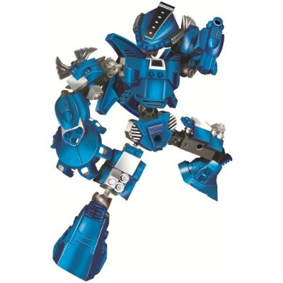 Blocos Para Montar - Robô Guerreiro Blue Armor - 65 Peças - Xalingo