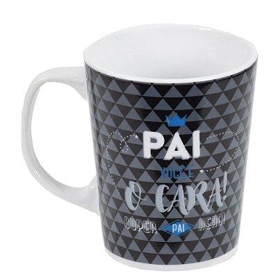 Caneca em Porcelana Premium 280ml - Pai, Você é o Cara - Brasfoot